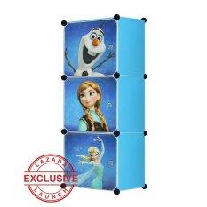 AIUEO Lemari Pakaian Motif Frozen 3 Pintu Type 3.1 - Biru