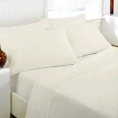 Alona Ellenov Putih Garis Sprei With Bed Cover Katun .