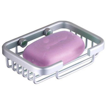 Aluminum Alloy Soap Dish Holder Draining Cup Waterproof Skid Durable Bathroom Shower Toilet Soap Holder Soap Dish Wall Mounted