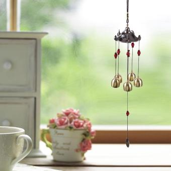 Antique Style Lucky Bronze Wind Chime Bell Outdoor Garden ClassicalPavilion Hanging Decoration - intl
