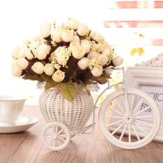Artificial Flower Rose Bouquet Home Hotel Room Wedding Party Garden Decoration - intl