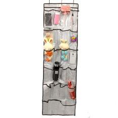 Aukey Clear Over The Door 22 Pockets Shoe Sock Hanger Organizer