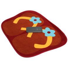 Autoleader Cute Anti-slip Flip Flops Absorbent Entrance Floor Door Bathroom Mats Carpet Rug Coffee (Intl)