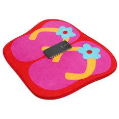 Autoleader Cute Anti-slip Flip Flops Absorbent Entrance Floor Door Bathroom Mats Carpet Rug Rose Red (Intl)
