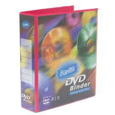 Bantex DVD Binder 2 Ring 40mm (Including 5 Sheets Pockets) Melon #8541 63