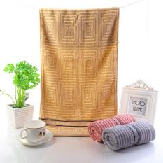 Bath Towel Set Of 3 Magic Cotton Face Towel Adult Hotel Children 100% Cotton Warm Yellow