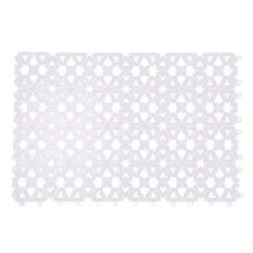 Bathroom Shower Room Floor Mat Rug Anti Slip Plastic Multicolor (White) (Intl)