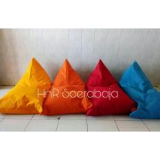 Bean Bag Triangel plus isi - sofa - furniture - kursi santai