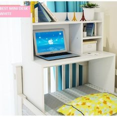 Best Mini Desk Meja Laptop, Belajar dan Rak Sebaguna - Putih