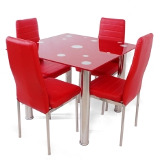 Best Square Dining Set Meja Makan - Merah