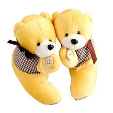 Black Horse 1Pair Cartoon Bear Curtain Tieback Hook Buckle Baby Kid Nursery Bedroom Hot (Yellow)