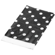 Black Polka Dot Plastic Table Cover 70*42 Inch Disposable Tablecloth (Intl)