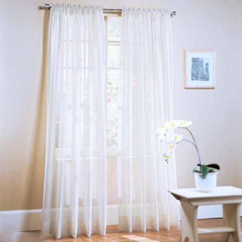 BolehDeals 100x200cm Window Door Curtain Panel Drape Tulle RoomBalcony Divider -White