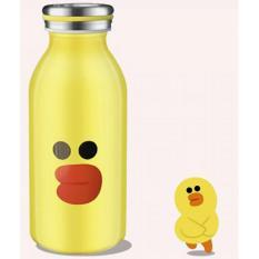 Botol Minum Termos Stainless Steel Kartun 350ML - Kuning