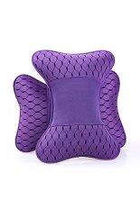 Breathe Car Headrest 3D Protective Pillow For Automobile 22BZ779 Purples