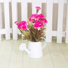 Bunga Plastik Hortensia Vas Teko Kaleng Putih Shabbychic Murah Source Termurah Buket Jamur Plastik Vas Teko
