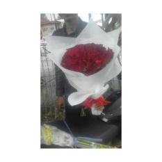 Hadiah Romantis Set 12 Buah Mawar Bunga Sabun Dengan Beruang Lucu Bantal Kado .