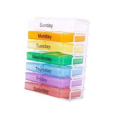 Buyincoins Weekly Storage Pill Organizer