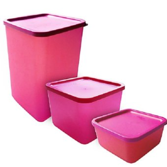 Calista Fresh Set Kotak Makan 3pcs - Pink