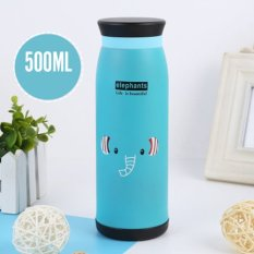 Cartoon Stainless Steel Vacuum Cup Thermos Mug Insulated Tumbler Travel Cups Belly CupsThermal Mug 500ml (Elephant)