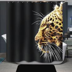 Cheetah Printing Bathroom Shower Curtain Waterproof H1532c3