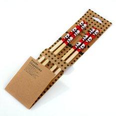CHENFEI Chopsticks Natural Chopsticks Panda Two Pairs Of Color Chopsticks Installed Rose - Intl
