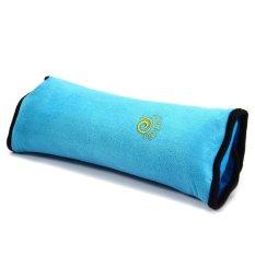 Children Car Soft Headrest Cushion Neck Pillow Shoulder Pad Vehicle Seatbelt (Intl)