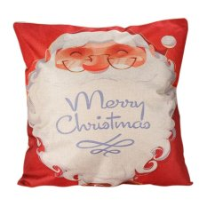 Christmas Cushion Cover Xmas Ambience Square Pillow Case Sofa Home 09 (Intl)