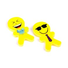 Cocotina 2 Pcs Funny Cute Smiling Face Pencil Eraser Rubber Stationary Student Kid Gift Toys