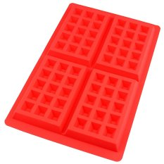 Cocotina Cake Decoration Supplies Waffles Chocolate 4-Cavities Silicone Mold DIY Bakery Kitchen Baking Mould