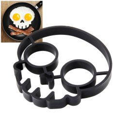 Cocotina Novelty DIY Kitchen Cooking Mold Silicone Skull Type Fried Egg Ring Pancake Mould