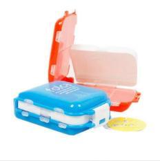 Cofoe Portable Three-tiered 8 Slots Pill Box