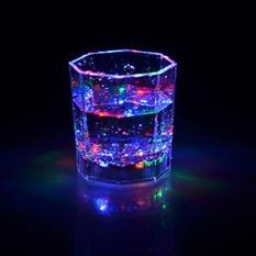 Colourful LED Glowing Mug Water liquid Inductive Light-up karaoke bar nightclub Paty shine cup KTV activity party - intl