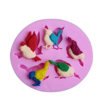 Cute Birds Silicone Fondant Cake Molds Chocolate Mould Kitchen Baking Tools - Intl