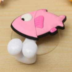 Cute Cartoon Animal Sucker Plastic Toothbrush Bathroom Wall Holder Suction Cup Fish (Intl)