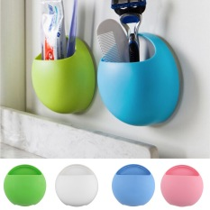 Cute Eggs Design Toothbrush Holder Suction Hooks Cups Organizer Bathroom Accessories Toothbrush Holder Cup Wall Mount Sucker - Intl