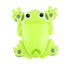 Cute Frog Toothbrush Makeup Tools Wall Stick Paste Organizer Holder Hook Green - Intl