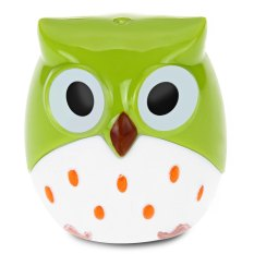 Cute Novelty Cool Funny Cartoon Owl Shape Two-Hole Pencil Sharpener School Gift For Kids Teens (GREEN)