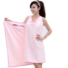 Linemart Microfiber Towels Soft Magic Towel Bathrobes Bath Skirt Beach (Pink)