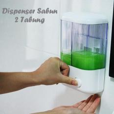 DapurBunda Dispenser Sabun dan Shampo 2 in 1 / Double Soap Dispenser / Tempat Sabun Cair