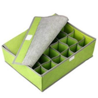 DapurBunda Underwear Storage Organizer box 24 / Underwear Organizer box isi 24 - Hijau