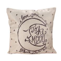 Decor Box Retro Cotton Linen Throw Compass Cushion Cover Pillowcase 03 (Intl)