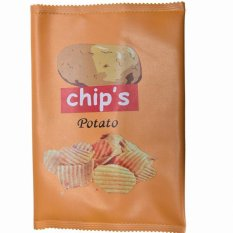 Delicious Food Clutch Bag Latest Fashion Potato Chips Snacks Slice Shaped Yellow 29*20cm