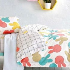 Depo Selimut Colorfull Bunny Sateen Jepang Queen Size