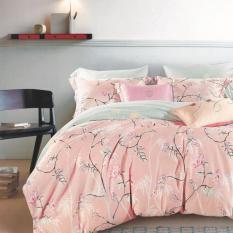 Depo Sprei Dan Bed Cover Vichi Pink Full Katun