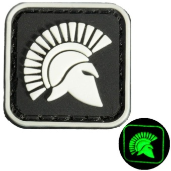 Details about 2 BLACK MINI MOLON LABE KING OF SPARTA GLOW. TACTICAL ARMY PVC VELCRO PATCH - intl