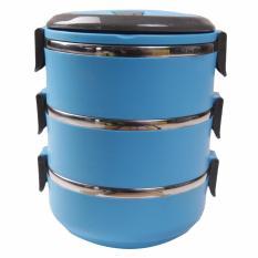 Dinemate Eco Lunch Box Stainless Steel Rantang 3 Susun - Biru