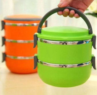 diva-Davi Lunch box rantang stainless steel susun 2 - hijau