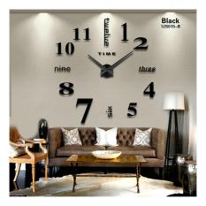 DIY Giant Wall Clock 80-130cm Diameter - ELET00659 / Jam Dinding - Black