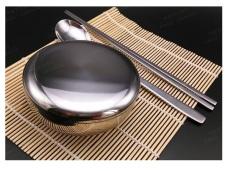 DT Shop Alat Makan Set Korea [Mangkuk Nasi Korean RiceBowl + SujeoSet + SushiRoller]